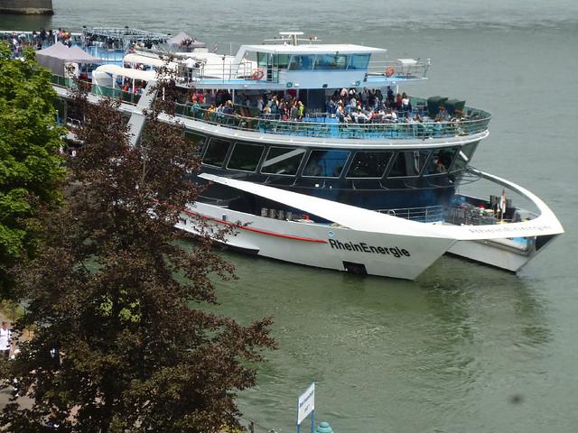 RheinEnergie boat on the Rhine