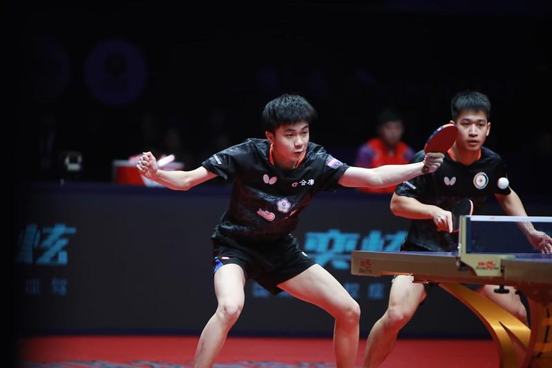 林昀儒、廖振珽。(圖/ITTF提供)