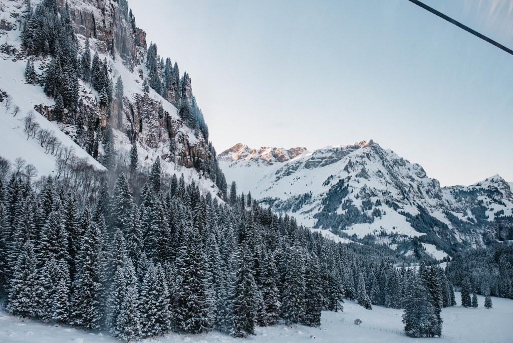 snowshoeing mount titlis