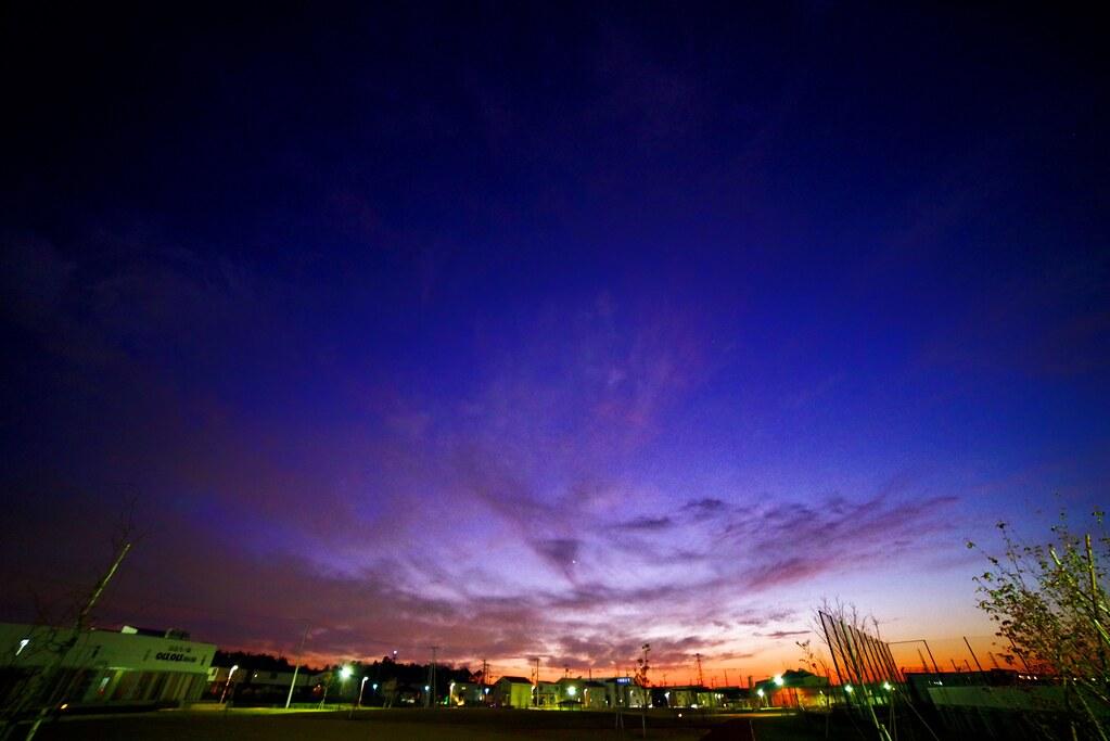 Sky at sunset in Tsukuba