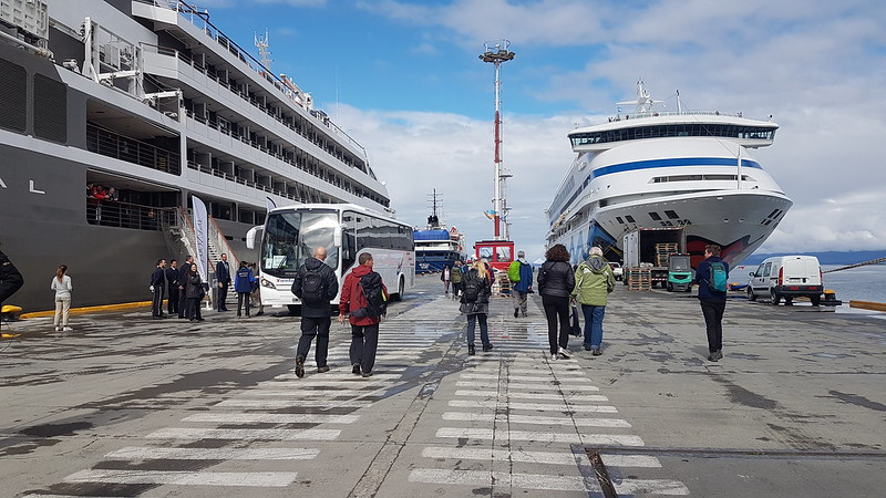 Port Ushuaia  - Not our vessels, thankfully!