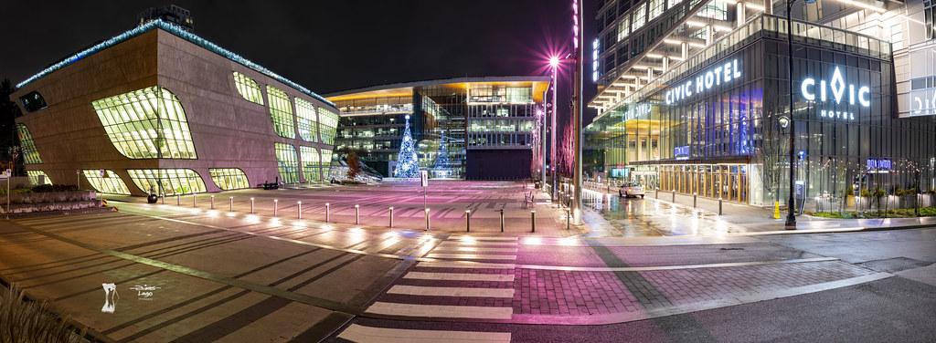 Night Light at Surrey City Hall