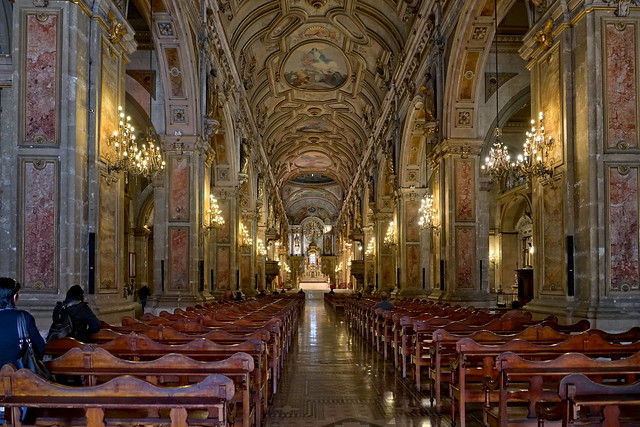 In the cathedral of Santiago de Chile