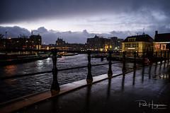 Rainy evening in Amsterdam