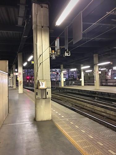 15december2019 edited hokkaido japan sapporo trainstation platform tracks railroad traintracks buildings downtown jrsapporo jrhokkaido jrsapporostation