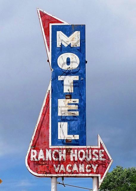 WY, Casper-Ranch House Motel Neon Sign