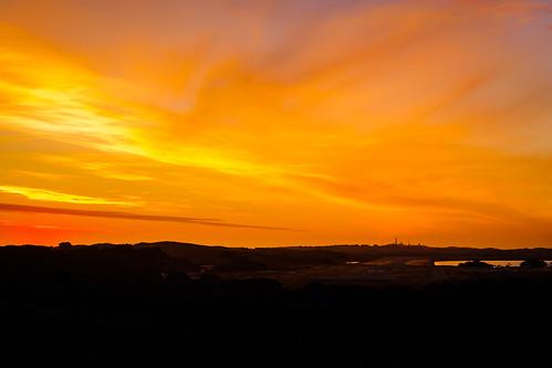 rottnestisland perth westernaustralia wa australia landscape outdoor sky sunset yellow sun twilight dusk evening silhouette longlenslandscape travel simple nature colour color olympusem10 olympusomd olympus lumix microfourthirds island orange vibrant view lookout