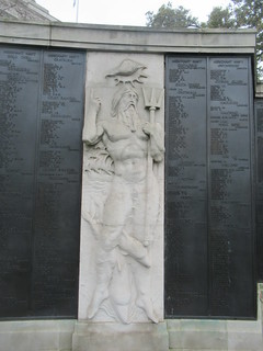 Seven Seas, Merchant Seamen's Memorial, Second World War, Sir Edward Maufe (Designer) and Sir Charles Wheeler (Architest), Tower Hill Memorial, Trinity Square Gardens, Tower Hill, City of London (8)