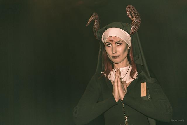 Praying nun.
