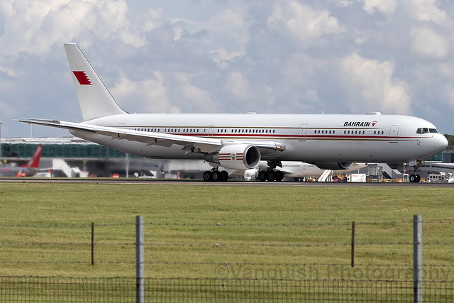 A9C-HMH B767-400 Bahrain Rioyal Flight B767-400 London Stansted