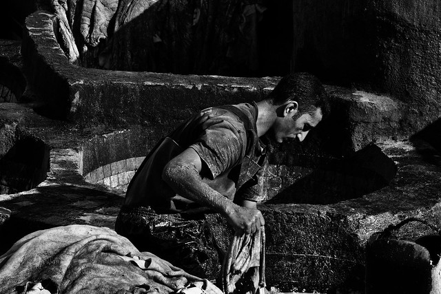 Chouara Tannery's Worker (3)