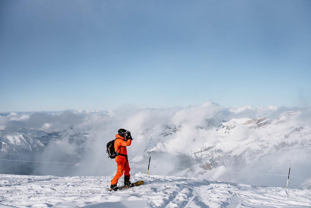 Mount Titlis snowboarding