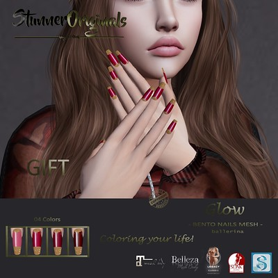 .:: StunnerOriginals ::. Bento Nails Mesh Ballerina Glow - GIFT