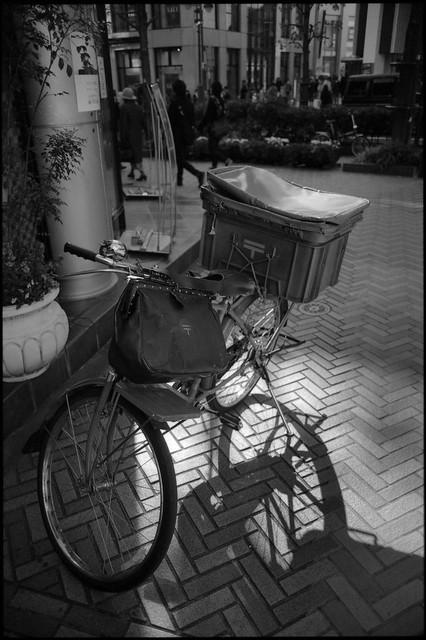 Old style postman bike