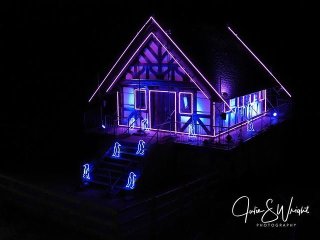 Santa's house, Blenheim light trail