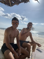 The duo on Tokeh beach