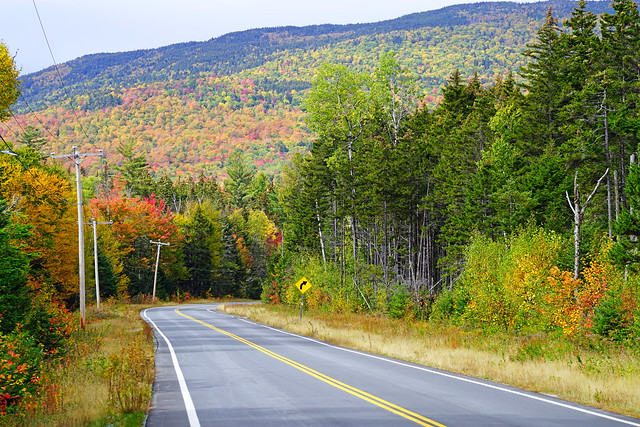 Road in the White Mountains, New Hampshire, USA