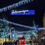 Festive streets of Preston
