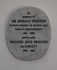 Ronald Preston, 1999
