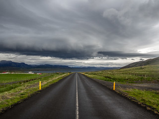 Iceland road panorama