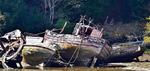 Cimetière de bateaux Douarnenez Bretagne