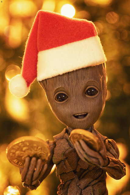 Christmas is coming and Baby Groot cant wait