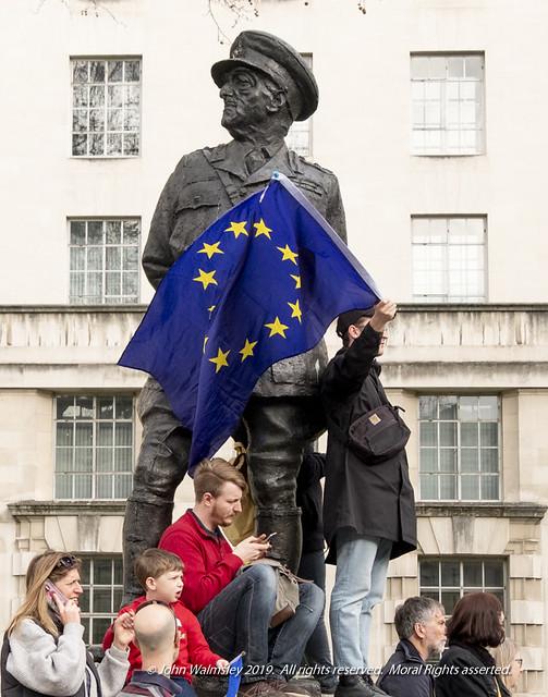 124624  'Viscount Allenbrooke' by Ivor Robert Jones, Anti-Brexit march, Whitehall, London