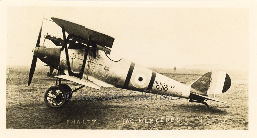 A captured Pfalz D.III Bestellnummer D 1370/17 with the British serial for German captured machines G.110 painted on [Germany, 1916]