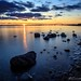 Sonnenuntergang am Fehmarnsund by Re Ca