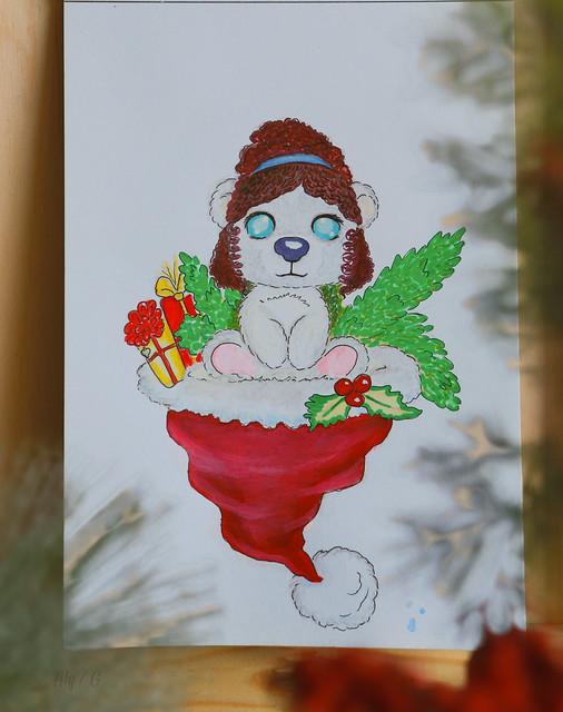 Polar Christmas Bear