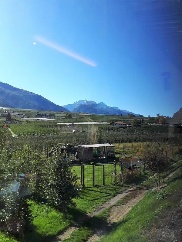 Zugfahrt ins Vinschgau