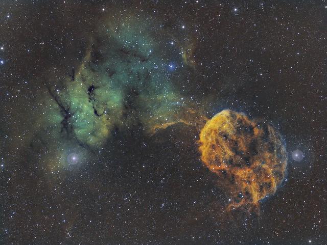 IC443 Nébuleuse de la Méduse SHO