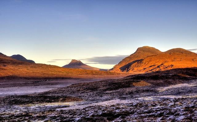 morning - Beinn an Eoin, Stac Pollaidh, Cul Beag, Inverpolly, Highland, Scotland, UK
