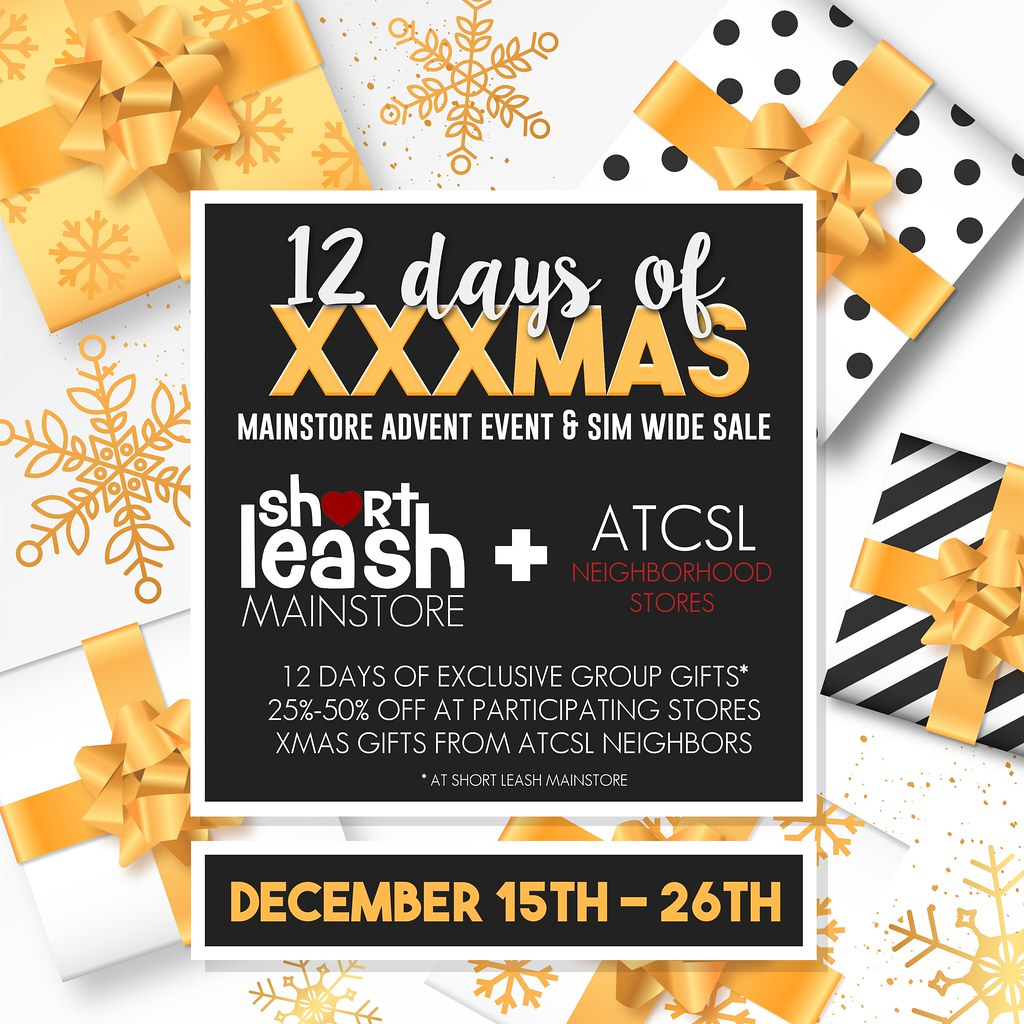 12 Days of XXXmas Advent & Sale @ Short Leash & ATCSL Neighborhood