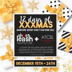 12 Days of XXXmas Advent & Sale @ Short Leash & ATCSL Neighborhood
