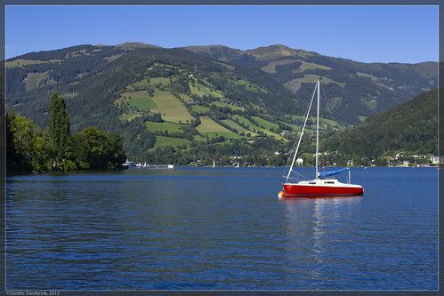 zellersee zellamsee 17082012 nature austria lake meer see boat boot 2012 relaxed
