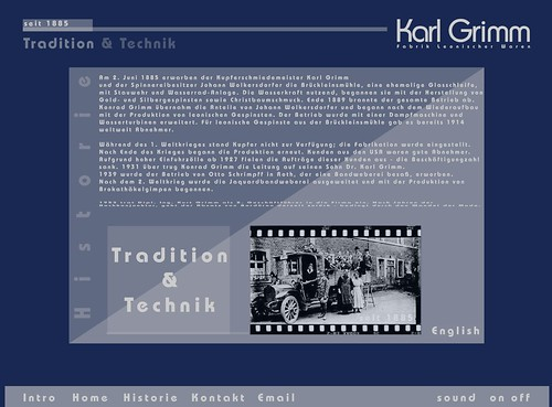 Karl-Grimm website screenshots