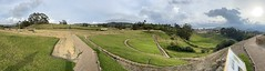 The Terraces (Vaguada/Terrazas), the Ingapirca Fortress is an Archaeological Complex (authentically Incan-Cañari construction) at 3,180 meters (10,433 ft) above sea level, Cañar Province, the Southern Highlands, Ecuador.