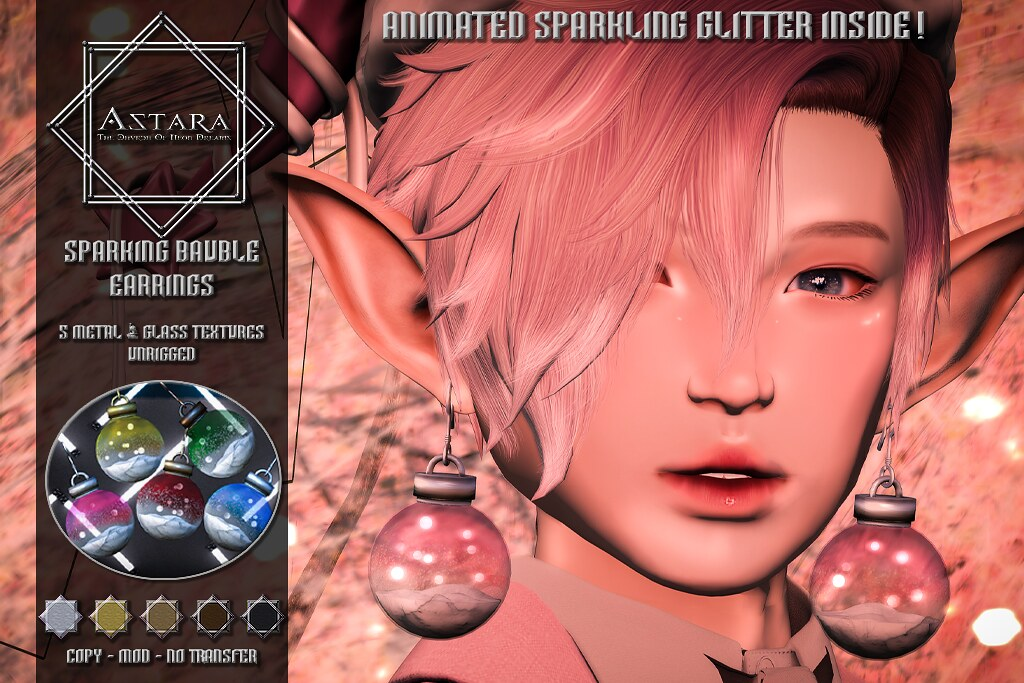 Astara - Sparkling Bauble Earrings