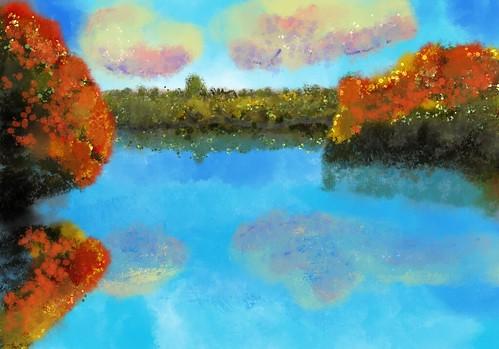 ipad digital drawing landscape procreate sketch