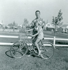 Girl Poses on Bicycle, 1958