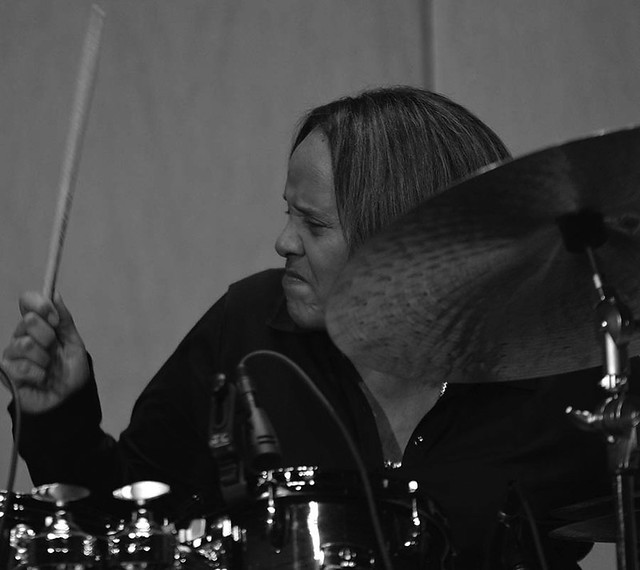 "Terri Lyne Carrington, drummer, The Carr Center, Detroit, performing selections from latest release, ""Waiting Game."""