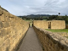 El Akllahuasi Corridor, the Ingapirca Fortress is an Archaeological Complex (authentically Incan-Cañari construction) at 3,180 meters (10,433 ft) above sea level, Cañar Province, the Southern Highlands, Ecuador.