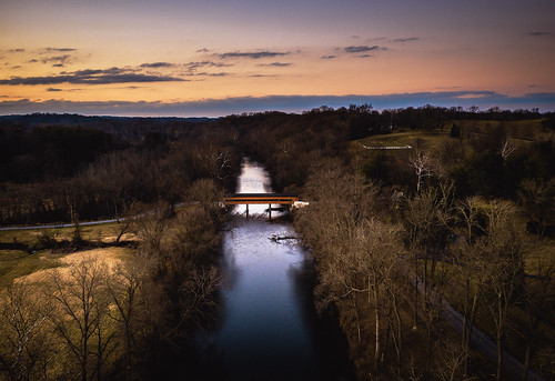 aerial photography brandywine delaware landscape sunset drone dji mavic2pro december 2019 cold bridge