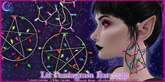 *NW* Lit Pentagram Earrings