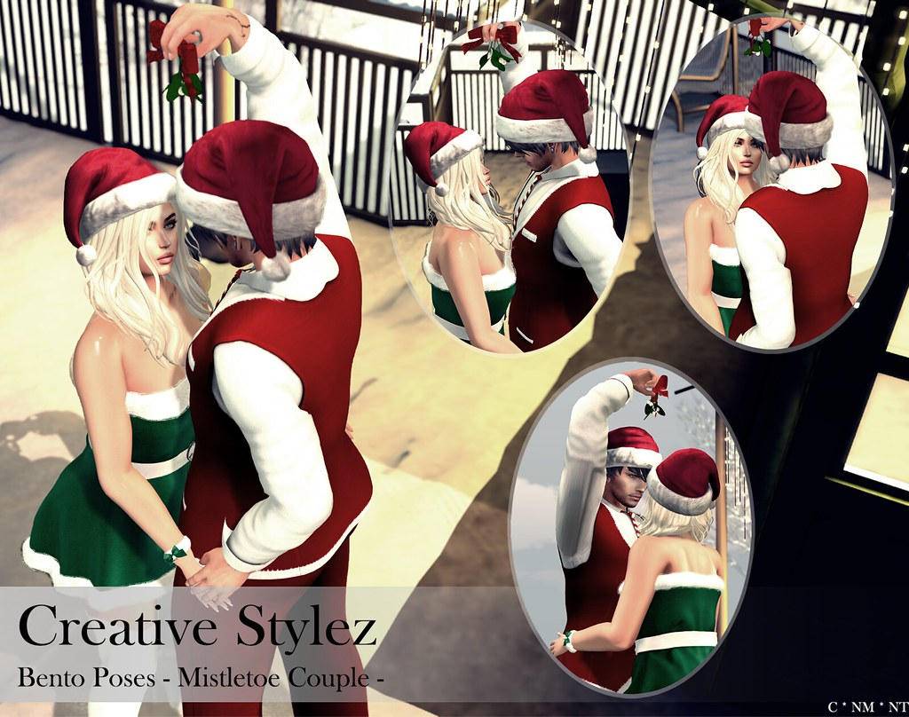 Creative Stylez - Bento Poses - Mistletoe Couple