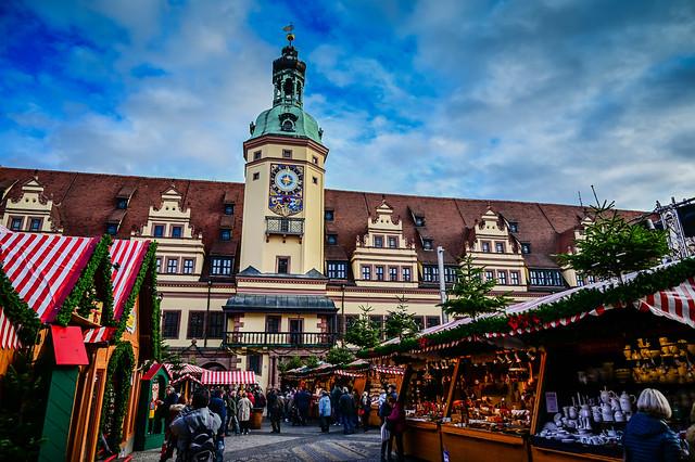 Leipziger Weihnachtsmarkt and Altes Rathaus - Leipzig Germany