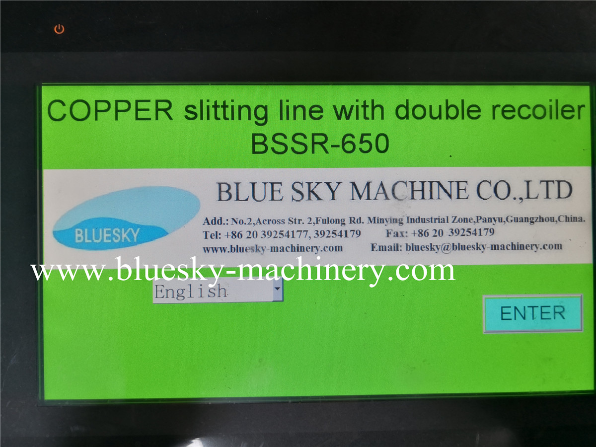 copper foil slitting machine control panel 1