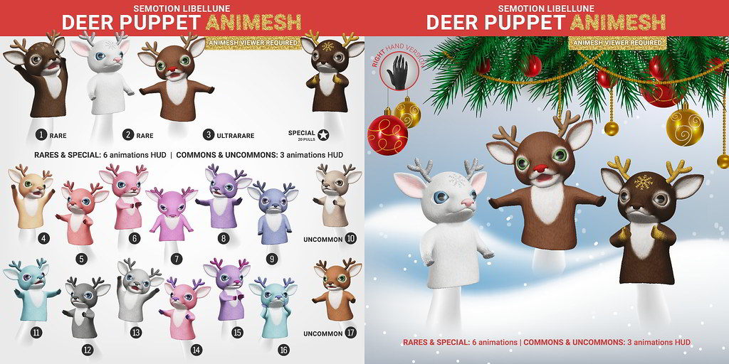 SEmotion Libellune Deer Puppet Animesh @ equal10