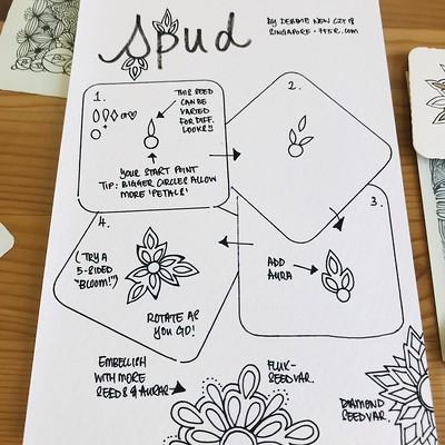 Spud - a new tangle pattern